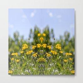 more tests flower print Metal Print