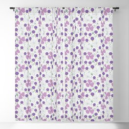Purple Chicks on a Gray Background Blackout Curtain