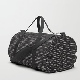 Guitars (Tiny Repeating Pattern on Black) Duffle Bag