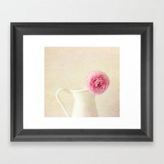 Textured Ranunculus Framed Art Print