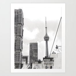 Monochrome Tower Art Print