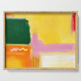 Mark Rothko - No 16 / No 12 (Mauve Intersection) Artwork Serving Tray