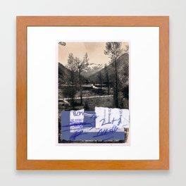 memory and perception 14 Framed Art Print