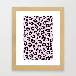 Leopard Print - Lavender Blush Framed Art Print