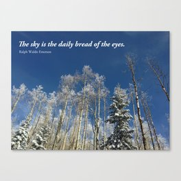 The sky is the daily bread of the eyes Canvas Print
