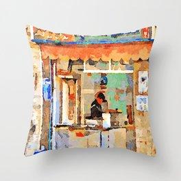 Shop in Aleppo Throw Pillow