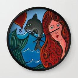 Goddess Of The Sea Wall Clock