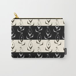 Art Deco No. 49. Block . Combined black and white pattern . Calla . Carry-All Pouch