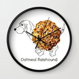 Dog Treats - Oatmeal Raishound Wall Clock