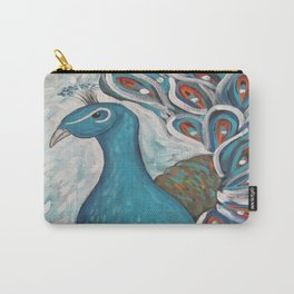 Blue Peacock with Blue Carry-All Pouch