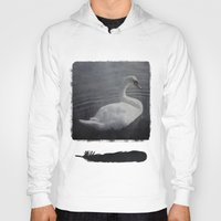 swan Hoodies featuring Swan by AraNaja