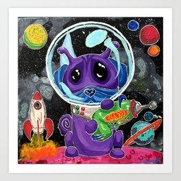 A Good Boy in Space Art Print