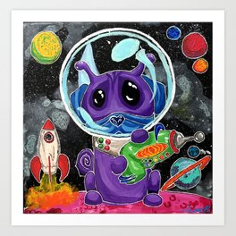 A Good Boy in Space Art Print
