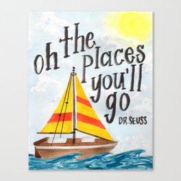 Oh the Places You'll Go - Dr. Seuss Canvas Print