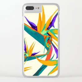 Chickas in Paradise Tropical Clear iPhone Case