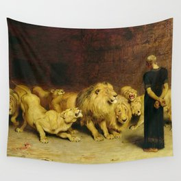 Daniel In The Lions Den 1872 By Briton Riviere Wall Tapestry