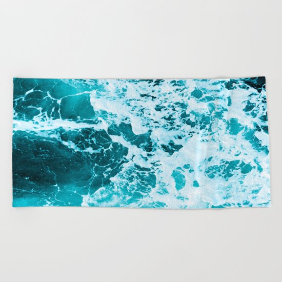 Deep Turquoise Sea Beach Towel