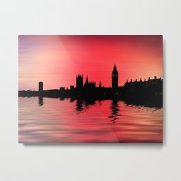 Crimson city 2 Metal Print