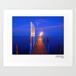 Wealthwood Dock Art Print