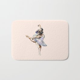 Pug Ballerina in Dog Ballet | Swan Lake  Bath Mat