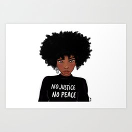 No Justice No Peace Art Print