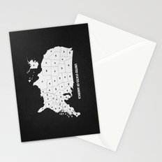 Black & White U.S.A. Map Stationery Cards