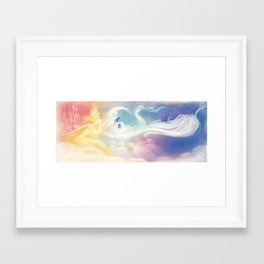 """The Sun, The Stars and The Moon // Illustration from """"Once Upon A Cloud"""" Framed Art Print"""