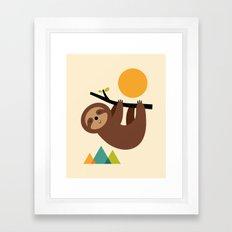 Keep Calm And Live Slow Framed Art Print