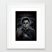 michael myers Framed Art Prints featuring Halloween Michael Myers by Matt Mattei