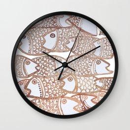 Peixinho sepia Wall Clock
