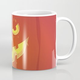 Evil Pumpkin Face (Halloween) Coffee Mug