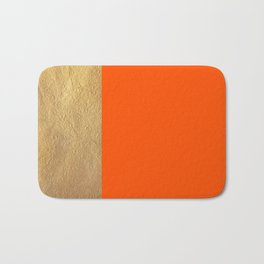 Color Blocked Gold & Poppy Bath Mat