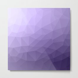 Ultra violet purple geometric mesh Metal Print