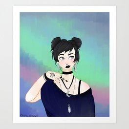black like my soul Art Print