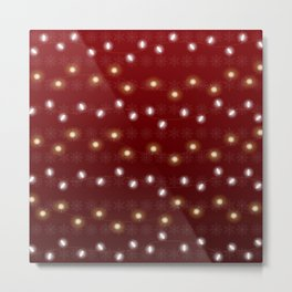 Christmas Light Red Metal Print