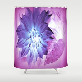 Purple Flower X-Ray Shower Curtain