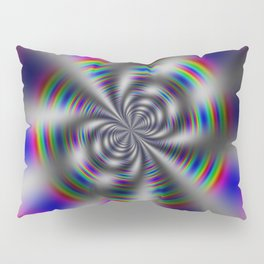 Fractal Rainbow Wheel Pillow Sham