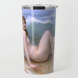 """William-Adolphe Bouguereau """"The Wave"""" Travel Mug"""