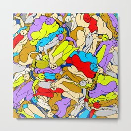 Sleepy Heads - Rainbow 1 Metal Print