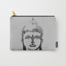 Buddha Head grey black Design Carry-All Pouch