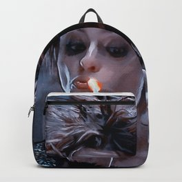 Marla Singer Smoking A Cigarette Backpack