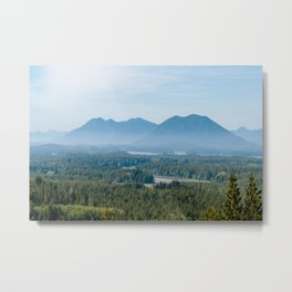 Misty Valley in Tofino - BC, Canada Metal Print