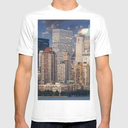 Downtown NYC at twilight T-shirt
