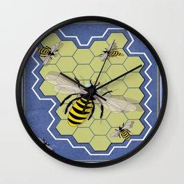 Honeycombs Wall Clock