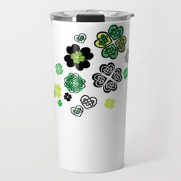 Celtic Love Knot Clovers Travel Mug