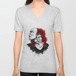 Let the mask consume you Unisex V-Neck