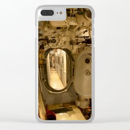 The USS Batfish SS-310 - The Torpedo Room Bulkhead View of the Officers' Quarters Clear iPhone Case