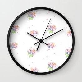 Dreamy Hydrangea Wall Clock