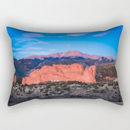 Pikes Peak - Sunrise Over Garden of the Gods in Colorado Springs Rectangular Pillow