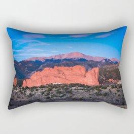 Pikes Peak - Sunrise Over Garden of the Gods in Colorado Springs Rectangular Pillow